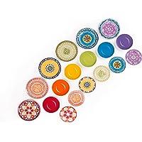 Excelsa ETNO Chic - Vajilla de Porcelana, Multicolor