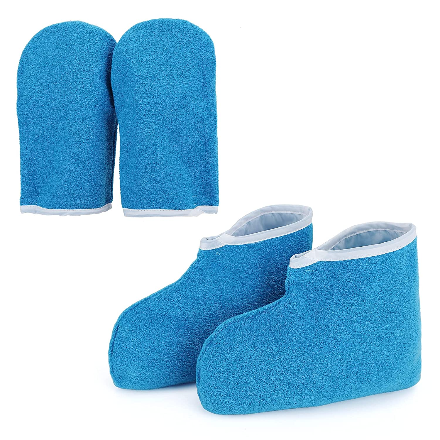 Paraffin Wax Gloves & Booties, Segbeauty Paraffin Heated SPA Mittens Foot Liners, Gloves & Socks for Hot Wax Hand Therapy Thermal Treatment Home DIY SPA Therabath Wax Warmer Paraffin Wax Machine Blue