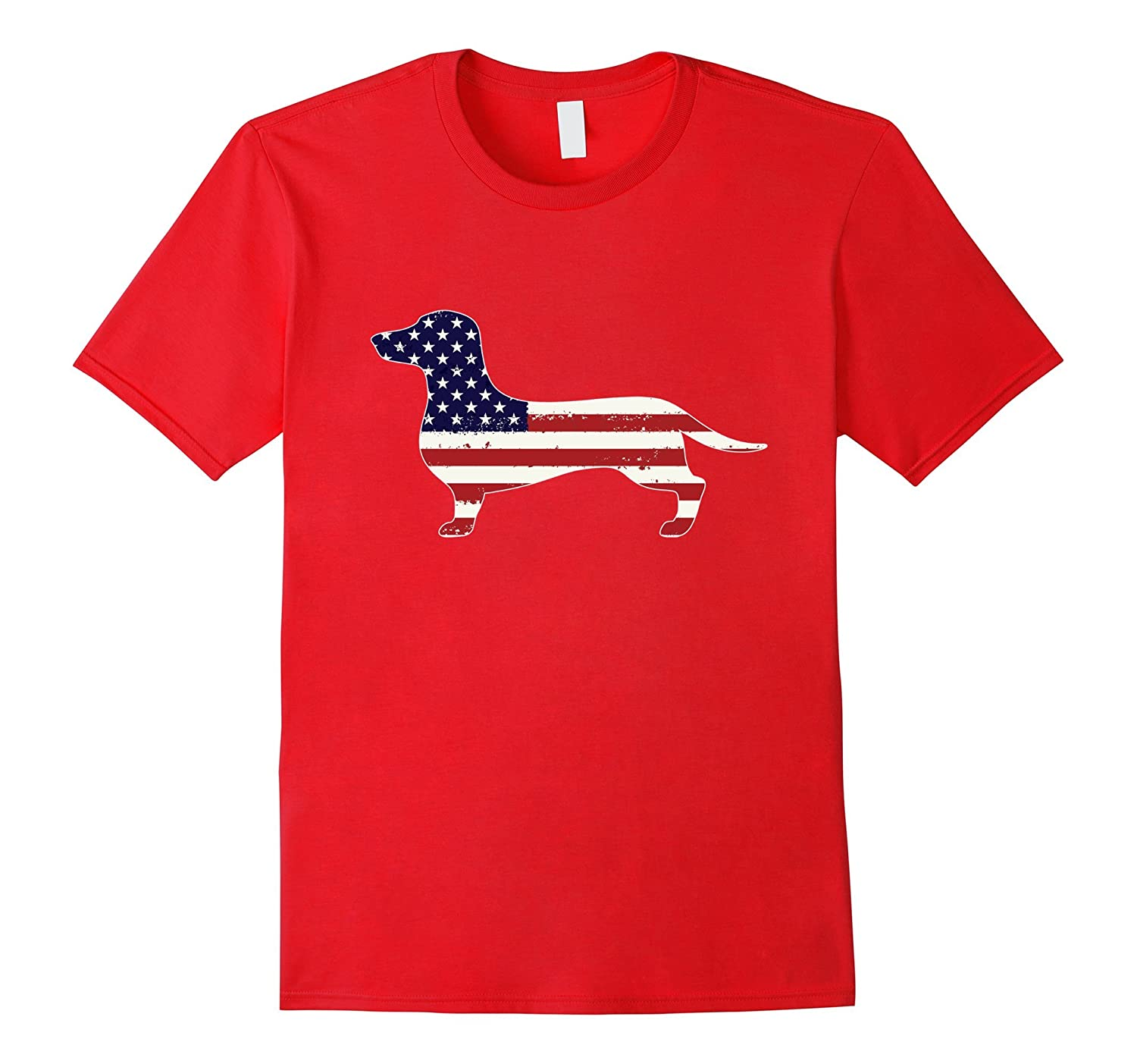 4th July Dachshund American Flag T-Shirt-Art