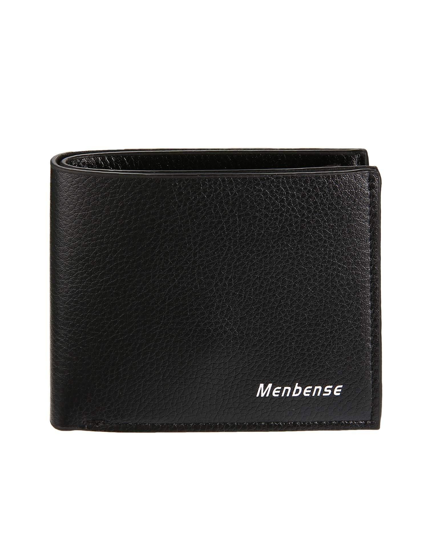 Men Fashion Wallets Letter Print Thin Short Bifold Open Wallets Card Holder