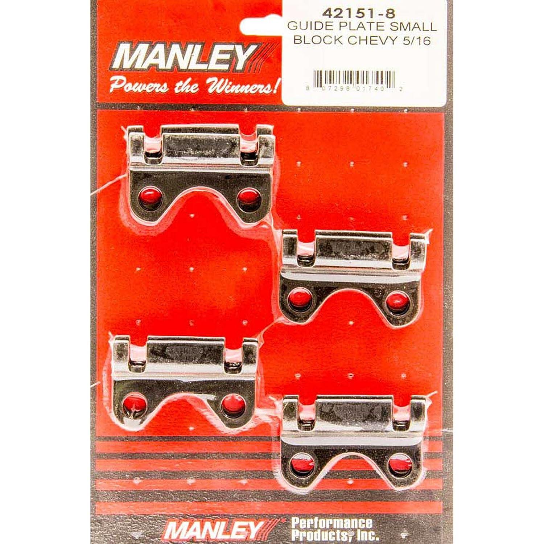 Manley 421518 Short Block Chevy Guide Plate, 5/16' Pushrod 5/16 Pushrod 42151-8