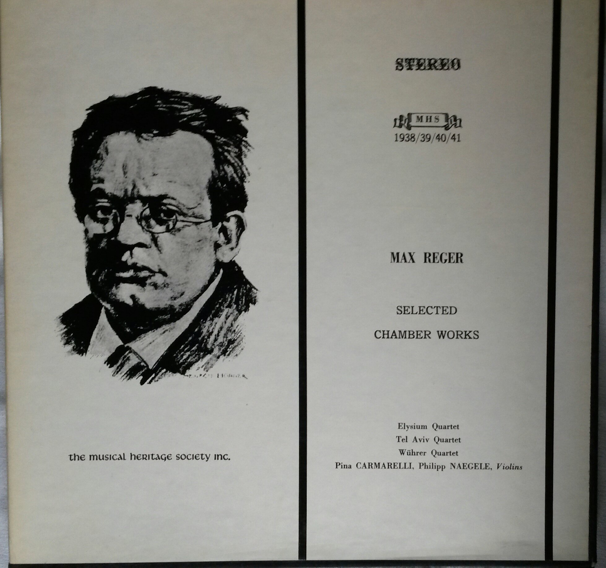 Reger: Selected Chamber Works ~ Piano Quartet in D Mi.,Op.113/Piano Quartet in A Mi.,Op. 133/Piano Quintet in C Mi.(Posth)/String Quartet No. 5 in F# Mi.,Op. 121/Allegro,A Ma. (No Op.)/3 Duos (Canons & Fugues) in the Old Style, Op. 131b for 2 Vn.