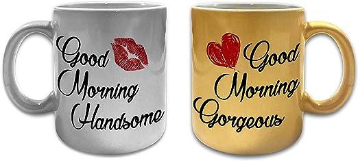 Good Morning Handsome 11oz Mug Gift Box Wife Husband Gift Valentines Birthday
