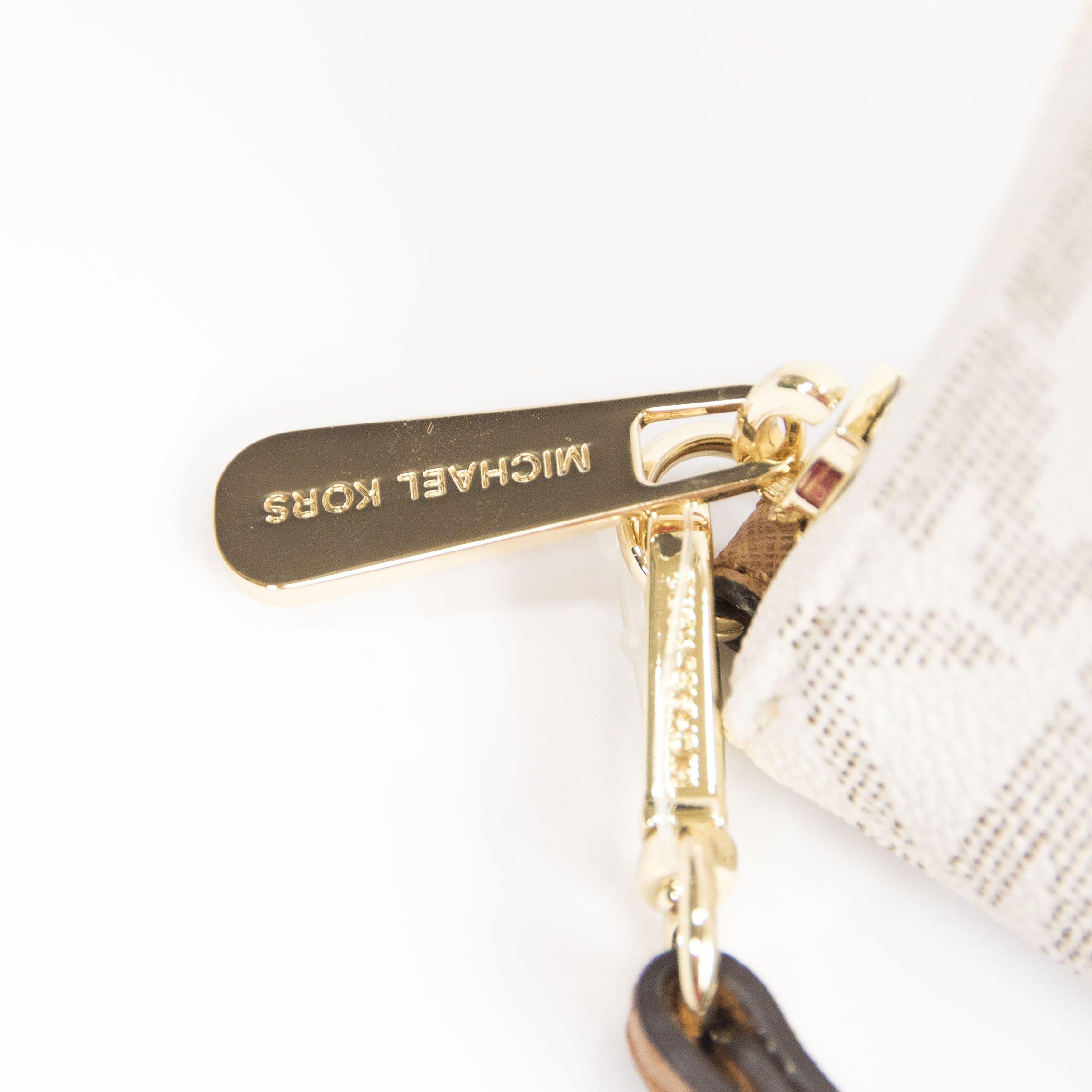 Michael Kors Vanilla Monogram Acorn Leather Large Zip Around Travel Wallet by Michael Kors (Image #3)