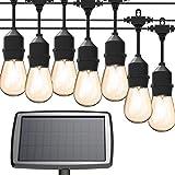 Solar String Lights, MagicPro 15 LED Light Bulbs Solar String Light Waterproof Heavy Duty Outdoor Solar Lights 44 Ft for…