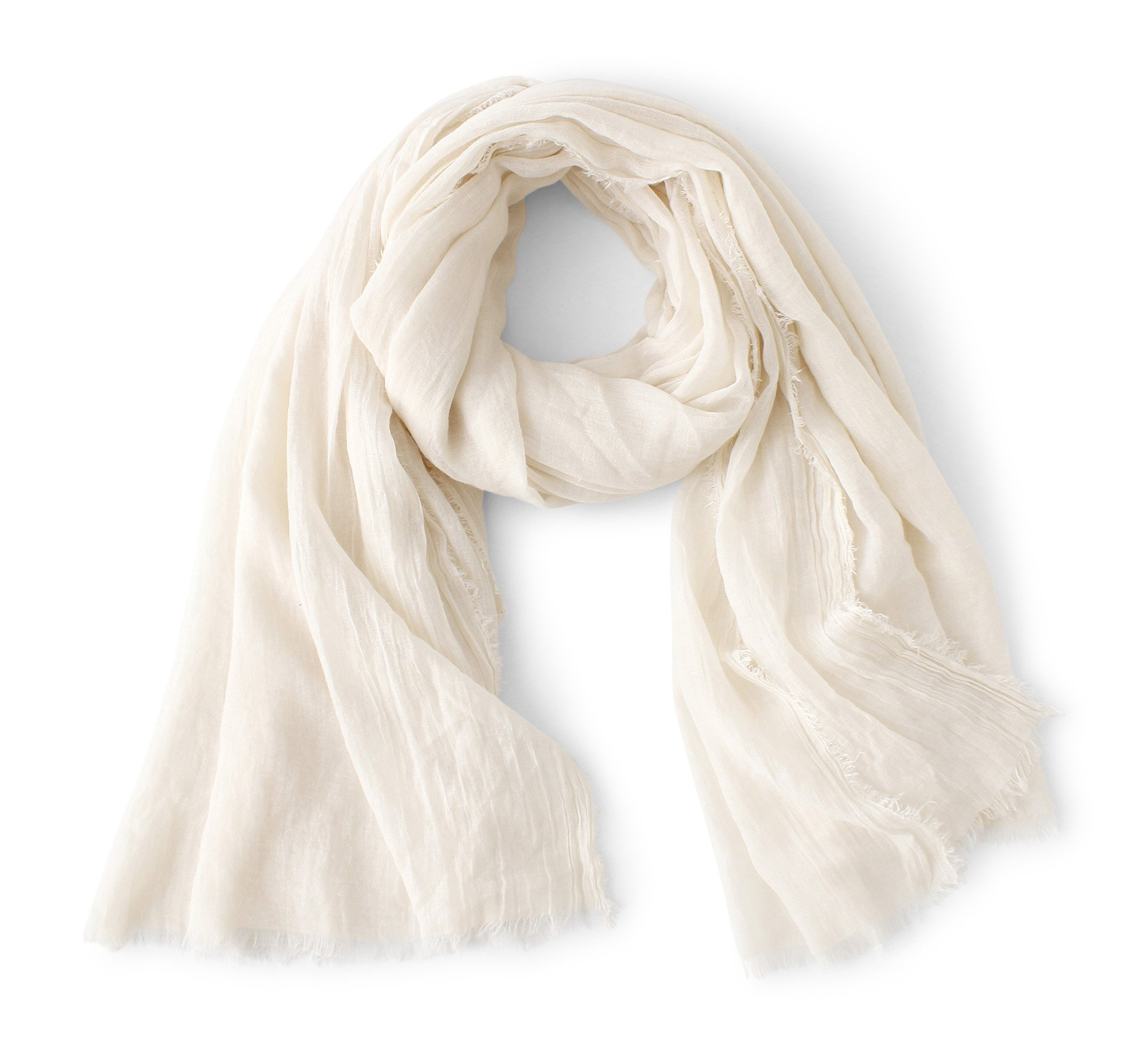 WS Natural Oversized Soft Scarf/Shawl/Wrap Basic Scarves Square For Men And Women (Beige)