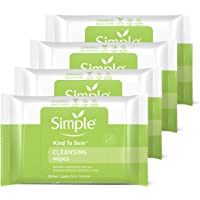 Simple for Sensitive Skin Face Cleansing Wipes 25 wipes, 4 count