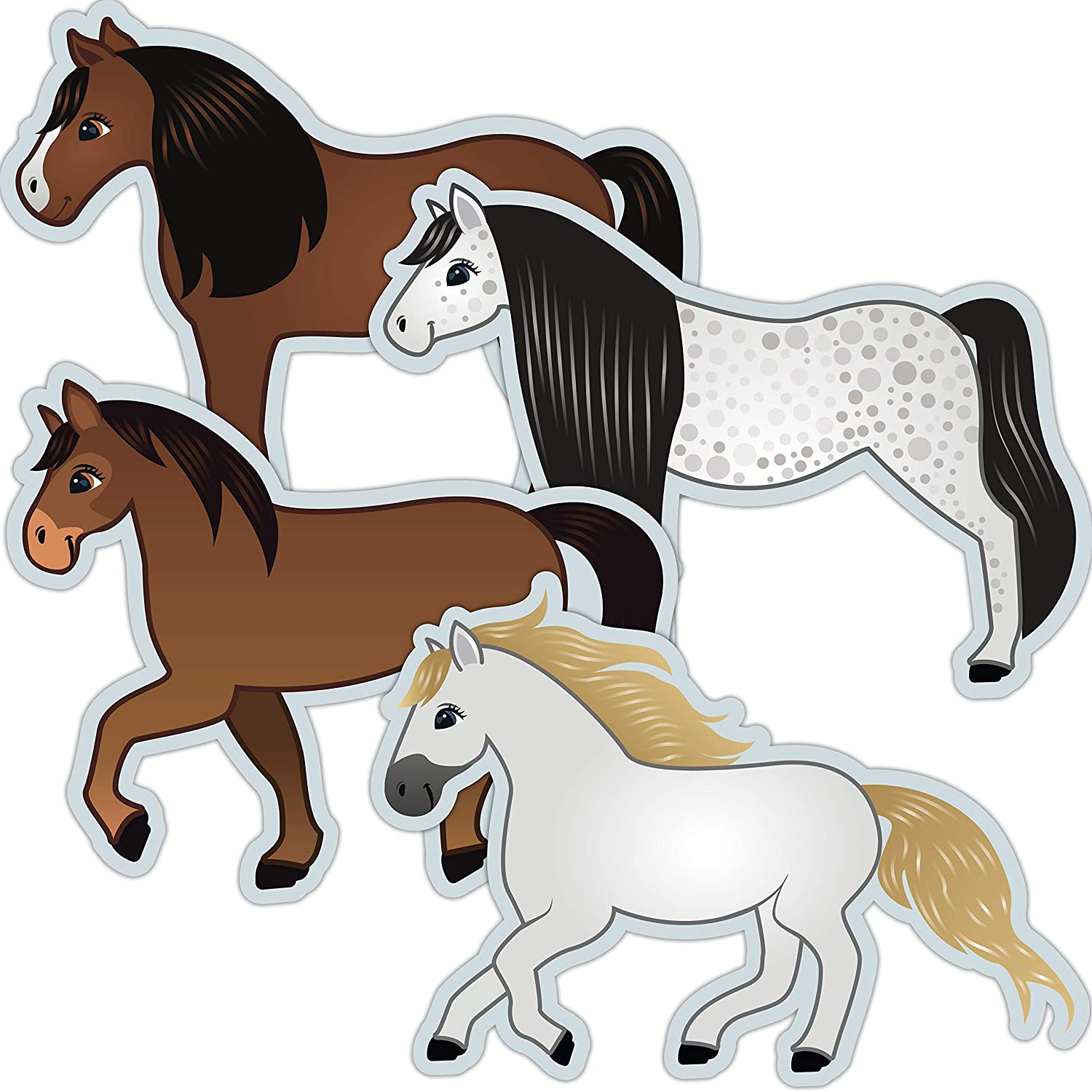 Horse Cutouts - Horse Birthday Party Decorations Supplies Classroom Decor Equestrian Themed - 20 PCS