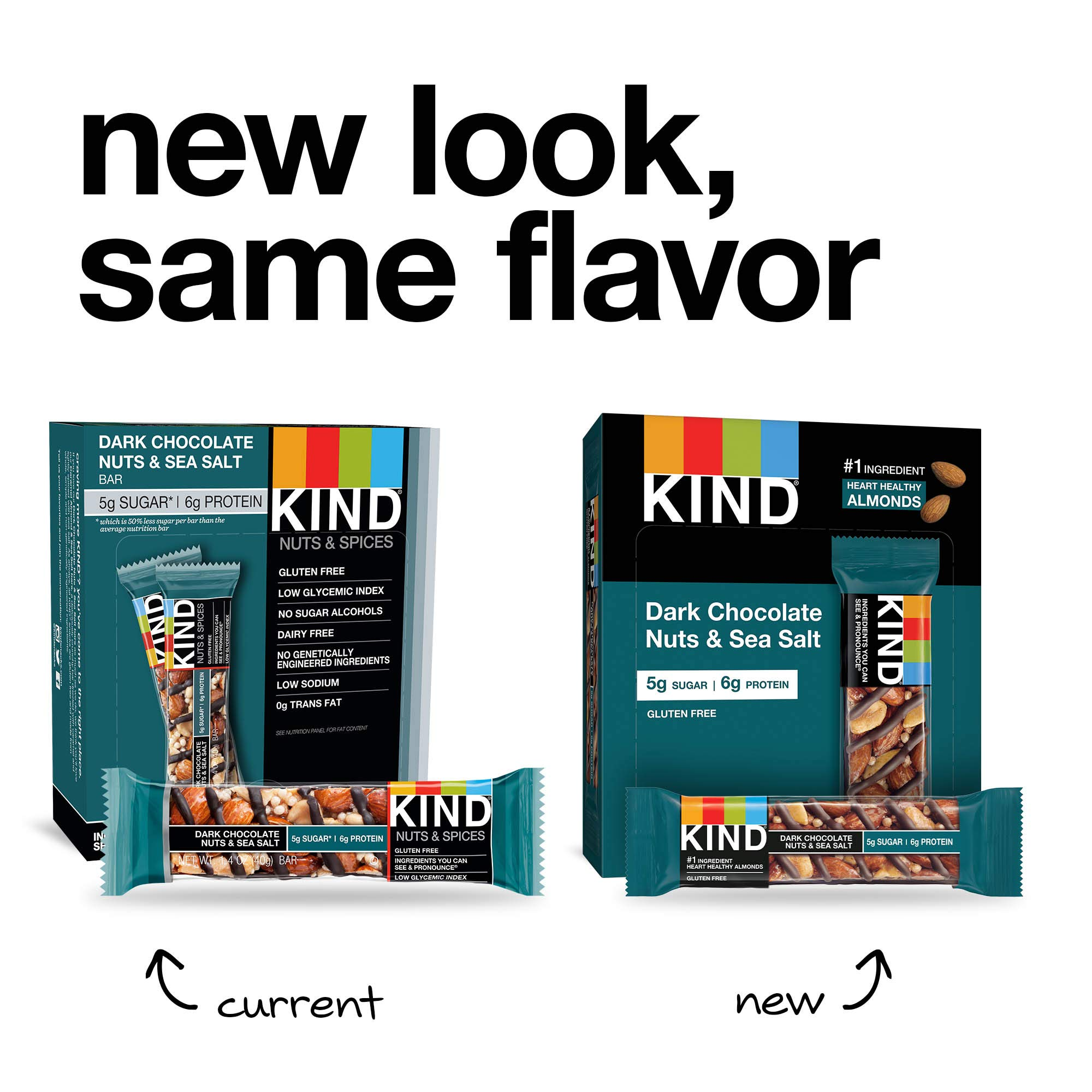 KIND Bars, Dark Chocolate Nuts & Sea Salt, Gluten Free, 1.4 Ounce Bars, 24 Count by KIND (Image #4)