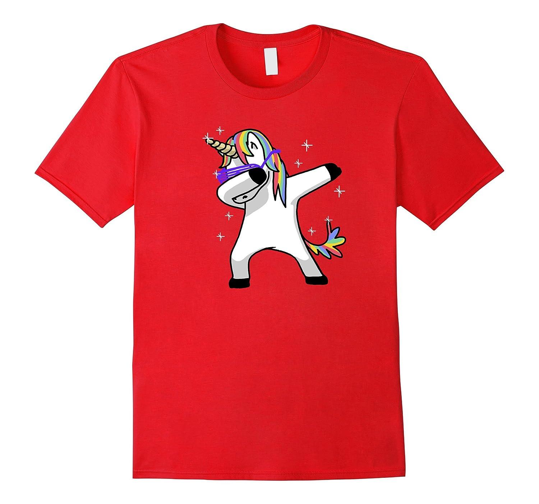 Dabbing Unicorn Shirt Dab Hip Hop Funny Magic-Vaci