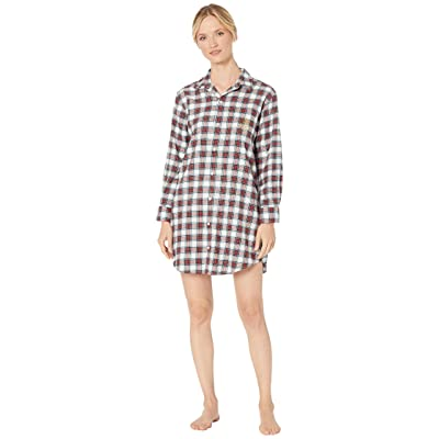 LAUREN RALPH LAUREN Brushed Twill Long Sleeve His Shirt Sleepshirt: Clothing