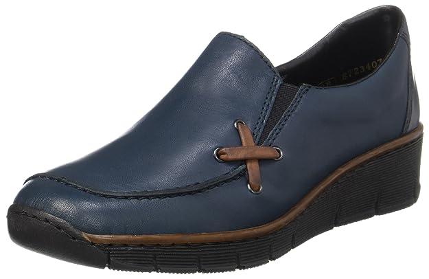 Womens 53783 Loafers, Blue (Blue), 4 UK Rieker
