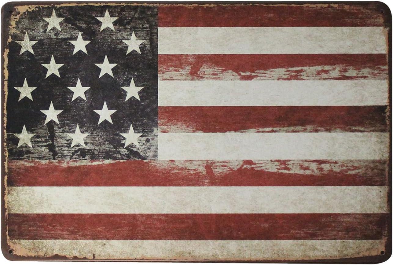 SuperStudio LO+DEMODA Cuadro de Metal Impreso, diseño Vintage USA Old, 20 x 30 cm, Multicolor, 0.3x30x20 cm