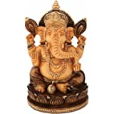 Collectible India Ganesh Statue Showpiece Figurine Wooden Sculpture Ganesha Idol Diwali Gifts