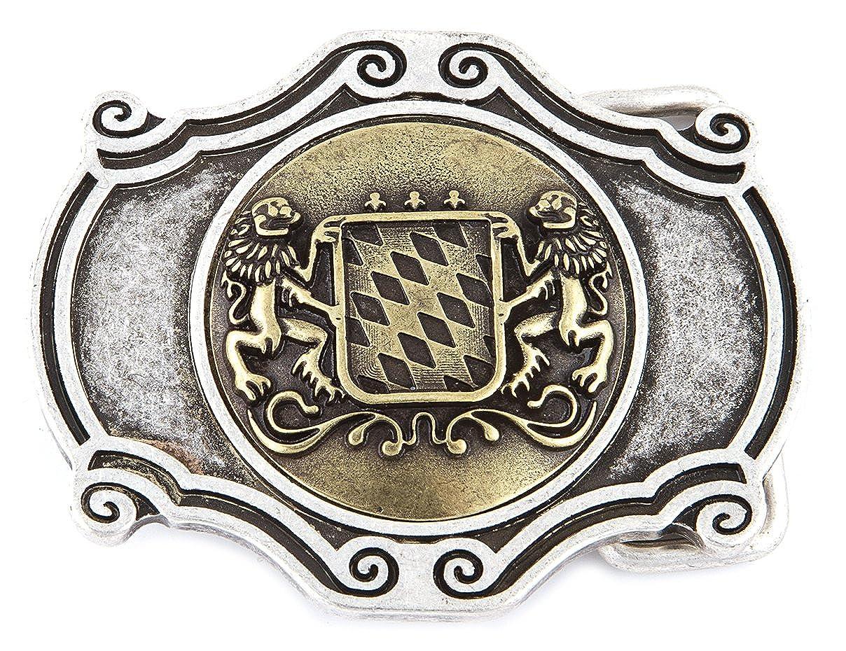 Hochwertige G/ürtelschnalle f/ür 40 mm G/ürtel G/ürtelschlie/ße B/ären J/äger Farbe: silber antik