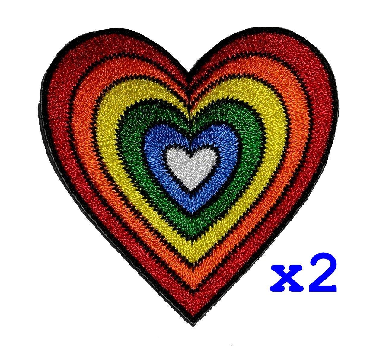 Heart Rainbow Hippie Retro Design DIY Applique Embroidered Sew Iron on Patch H-01 PA International Trading Co. Ltd 4337021918