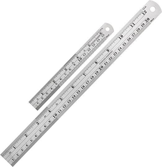 """Length Measuring Steel Ruler Metric and Inches 15 cm Care Instruments 6/"""""""