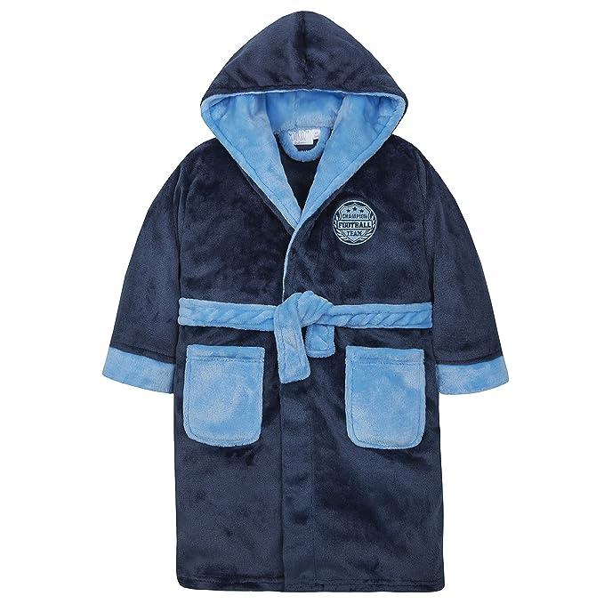 Bebé Niños Fútbol Novedad albornoz con capucha albornoz pijama edad 2 - 13: Amazon.es: Ropa y accesorios