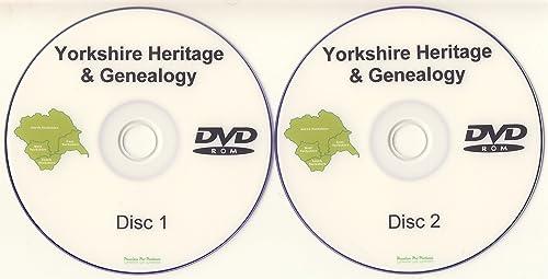 Yorkshire Genealogy DVD-ROM 2 Disc Set of PDF eBooks Heritage Family Tree Software Ancestry
