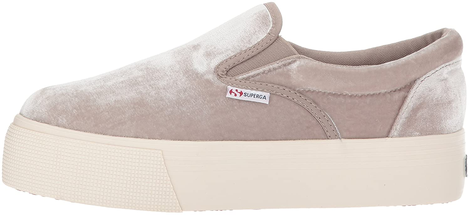 Superga Women's 2314 Velvetjpw Fashion Sneaker B072Q341YP 39.5 EU/8.5 M US|Grey Velvet