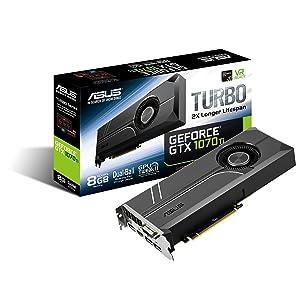 ASUS GeForce GTX 1070 TI 8GB GDDR5 Turbo Edition VR Ready DP HDMI DVI-D Graphics Card (TURBO-GTX1070TI-8G)