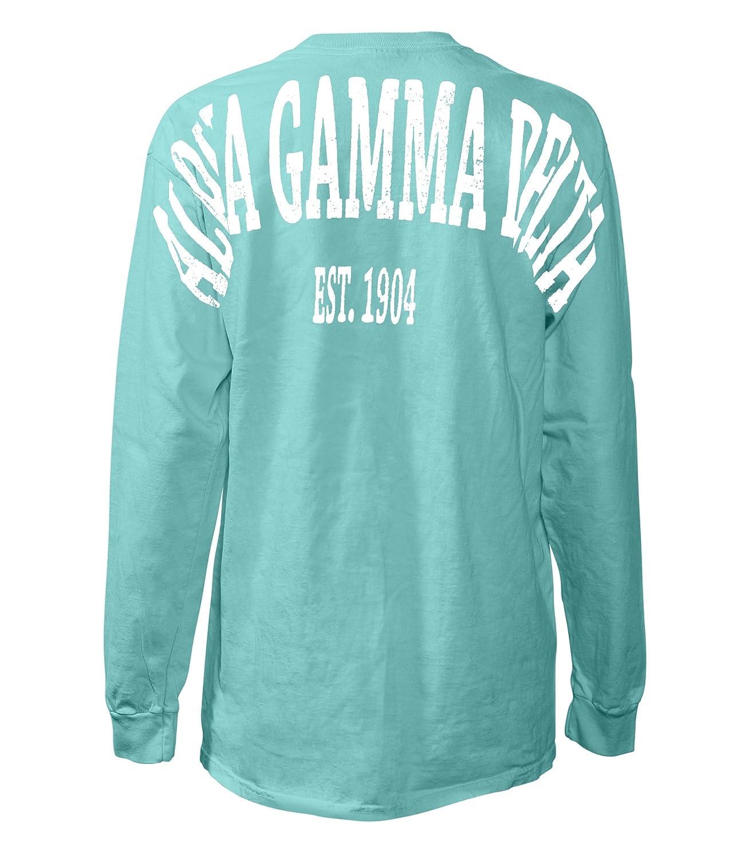 Amazon Com Alpha Gamma Delta Stadium Shirt Clothing