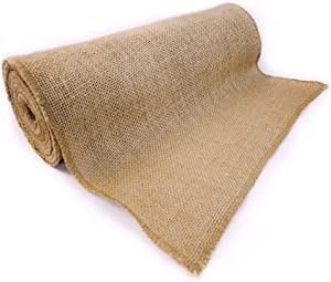 "Richcraft 12"" x 10yd NO-FRAY Burlap Roll ~ Long Fabric with Finished Edges. Perfect for Weddings,Table Runners, Placemat, Crafts. Decorate Without The Mess!"