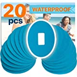 FixiC Patches for G4 G5 - Waterproof Adhesive – Best Fixation for G4 G5 - Oval - Pre Cut - Blue Color - Pack of 20