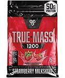 BSN TRUE-MASS Weight Gainer, Muscle Mass Gainer Protein Powder, Strawberry Milkshake, 10.25 Pound
