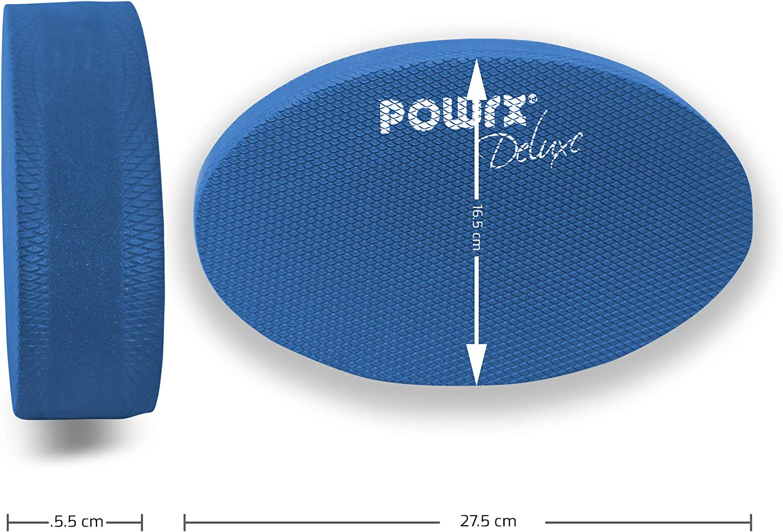 Workout I Ganzk/örpertraining gelenkschonend f/ür Gleichgewicht Stabilit/ät Koordination I Hautfreundliches TPE 28 x 17 x 6 cm I Versch POWRX Balance Pad Deluxe Oval inkl Farben