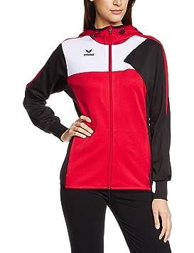 Erima Premium One Veste d entraînement à Capuche Femme  Amazon.fr ... 56a8fb33d91