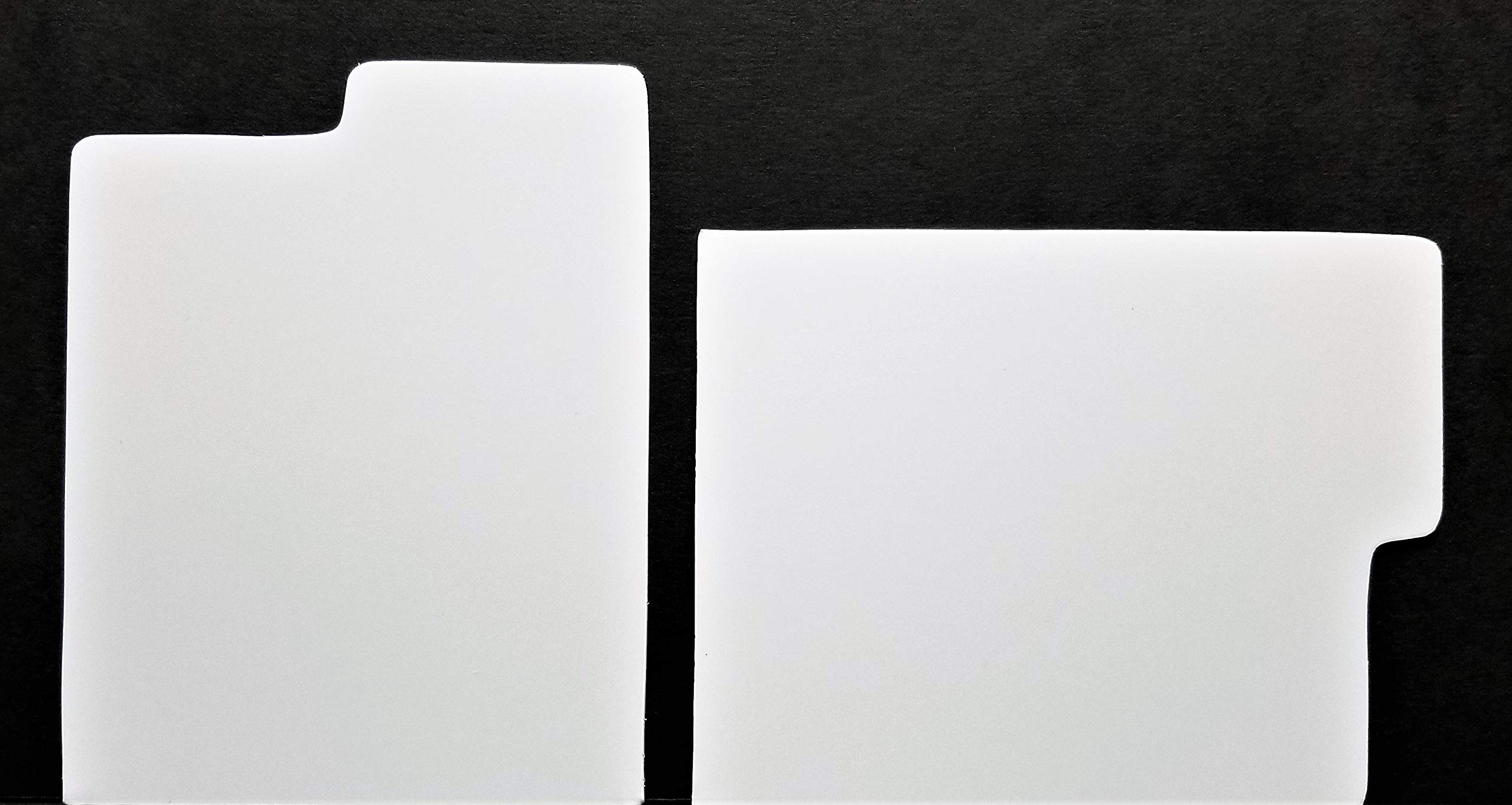 Dividers / 25 pc + 1 free dj magnet/CD - Index Tabbed Strong White Plastic Cards