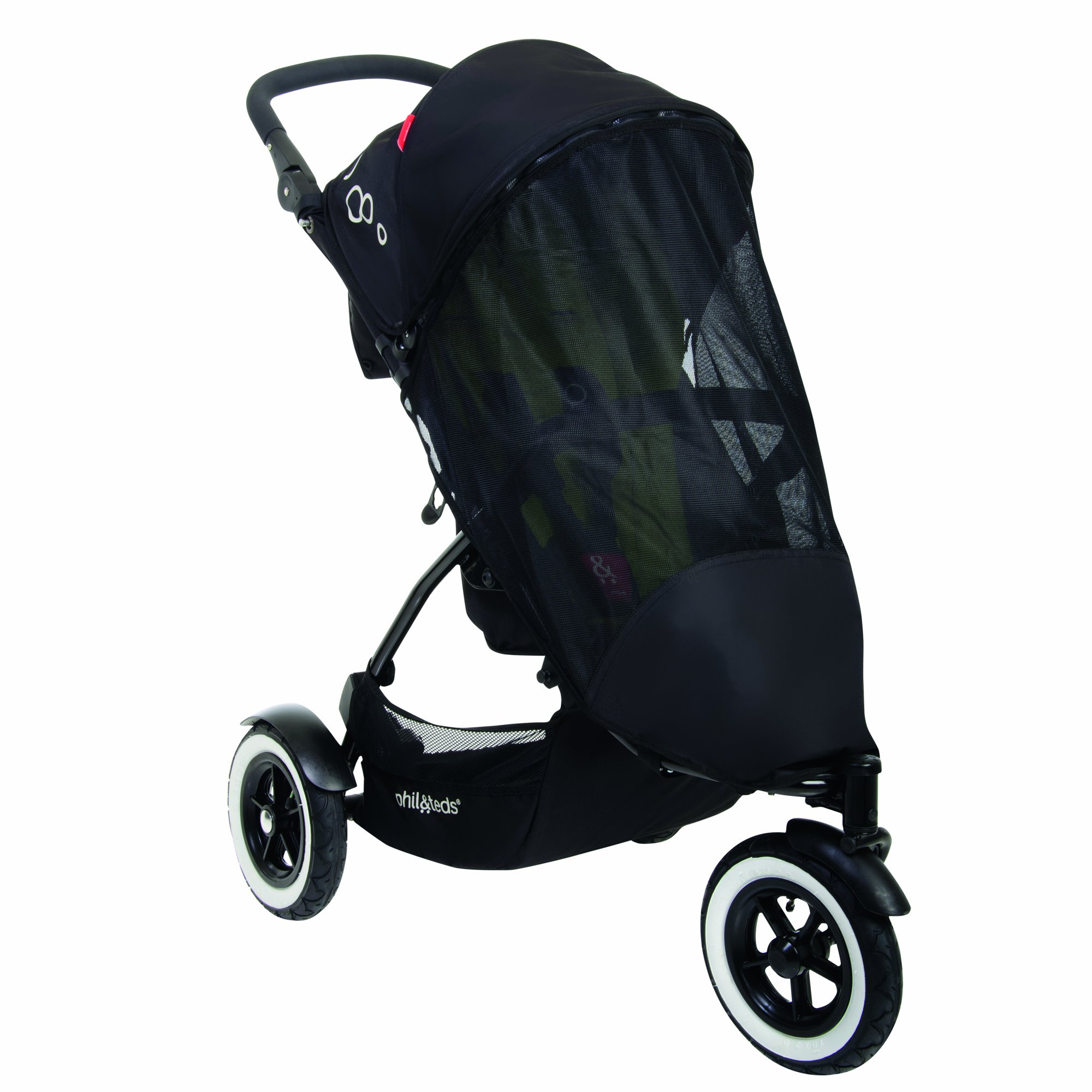 phil&teds UV Sunny Days Mesh Cover for Single Dot Stroller, Black by phil&teds (Image #1)