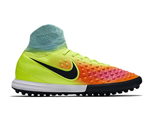 f231507720e2 Nike Kids Magistax Proximo Turf Volt Black Total Orange Shoes - 4.5Y
