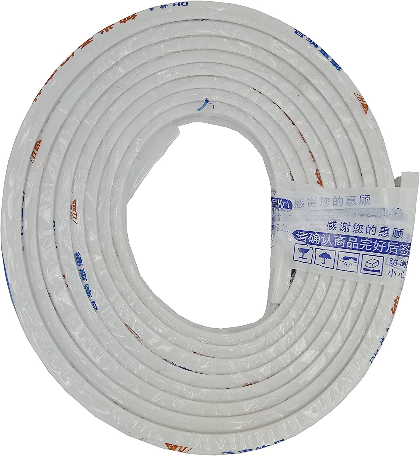 Go2Perfect Plastic Flexible Bendable Curved Curtain Track 16.4ft 5 Meters Top Ceiling Mounting Strong Durable for Heavy Curtains Replacement Guarantee If Have Any Quality Issues