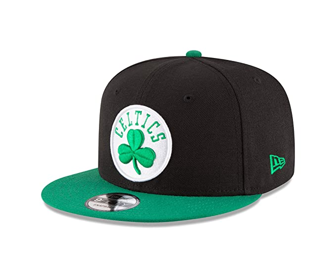 9f425745850bd4 Amazon.com : New Era NBA Boston Celtics Adult Men NBA 9Fifty 2Tone Snapback  Cap, OSFA, Black : Clothing