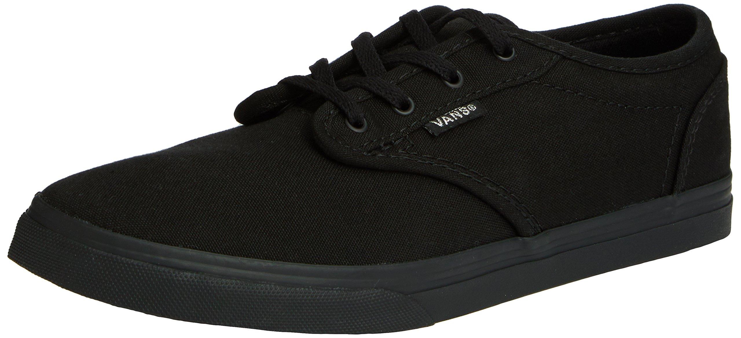 Vans Kids Atwood Low (Canvas) Black/Black Casual Shoe 4.5 Kids US by Vans