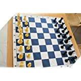 Speedy Grand Master Chess Set (Vinly Matt + Heavy Coins) With Special Travel Case
