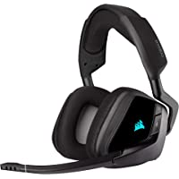 Corsair Void RGB Elite Wireless Gaming Headset, Carbon, CA-9011201-AP