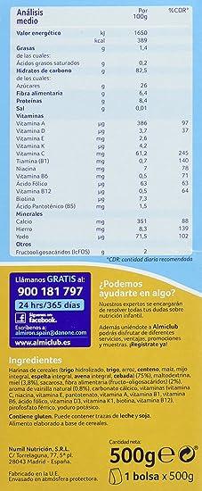 Almirón Advance 8 Cereales Miel - 500 gr - Paquete de 4 x 500 gr - Total: 2000 gr: Amazon.es: Alimentación y bebidas