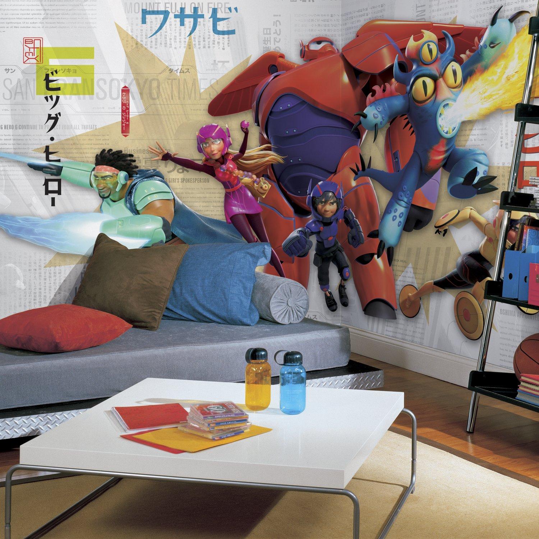 Multicolor RoomMates JL1336M 6 X 10.5 Big Hero 6 XL Chair Rail Prepasted Mural