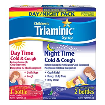 Amazoncom Triaminic Childrens Syrup Day Time Night Time Cold