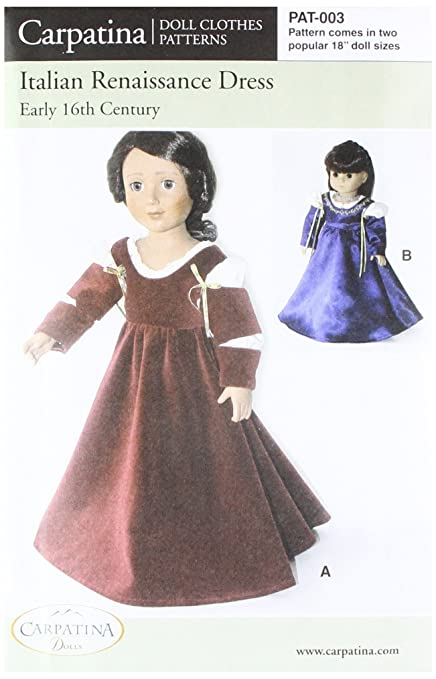 Amazon Pattern For Italian Renaissance Dress Fits 40 Mesmerizing American Girl Patterns