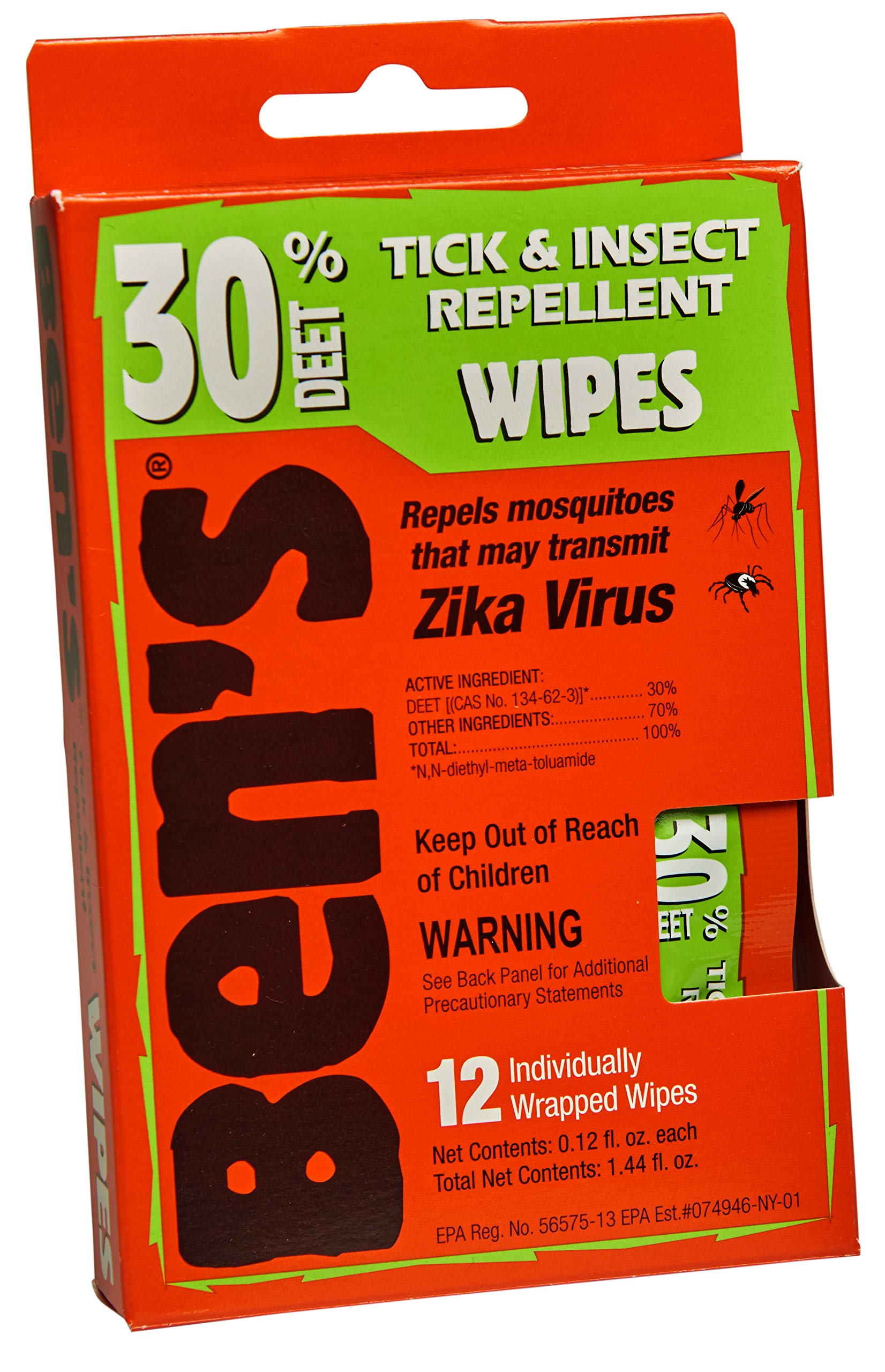 Ben's 30% DEET Mosquito, Tick and Insect Repellent Wipes, Pack of 48 by Ben's