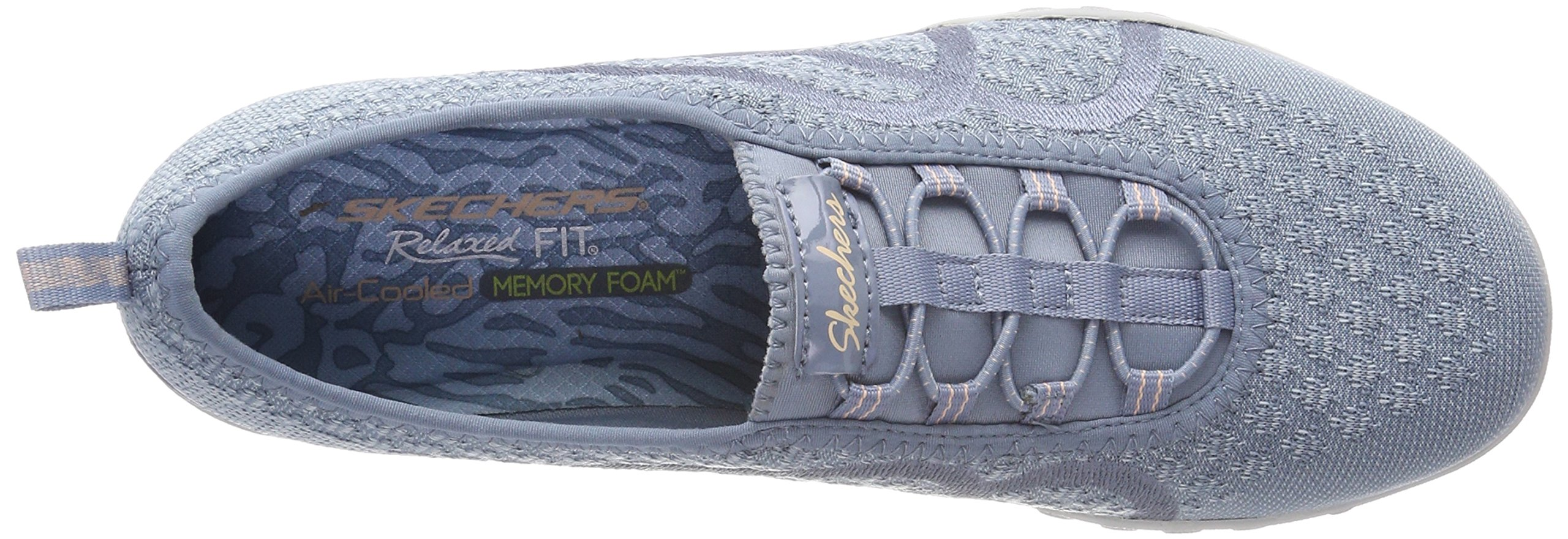 Skechers Relaxed Fit Breathe Easy Fortune Knit Womens Bungee Sneakers Blue 8 by Skechers (Image #7)