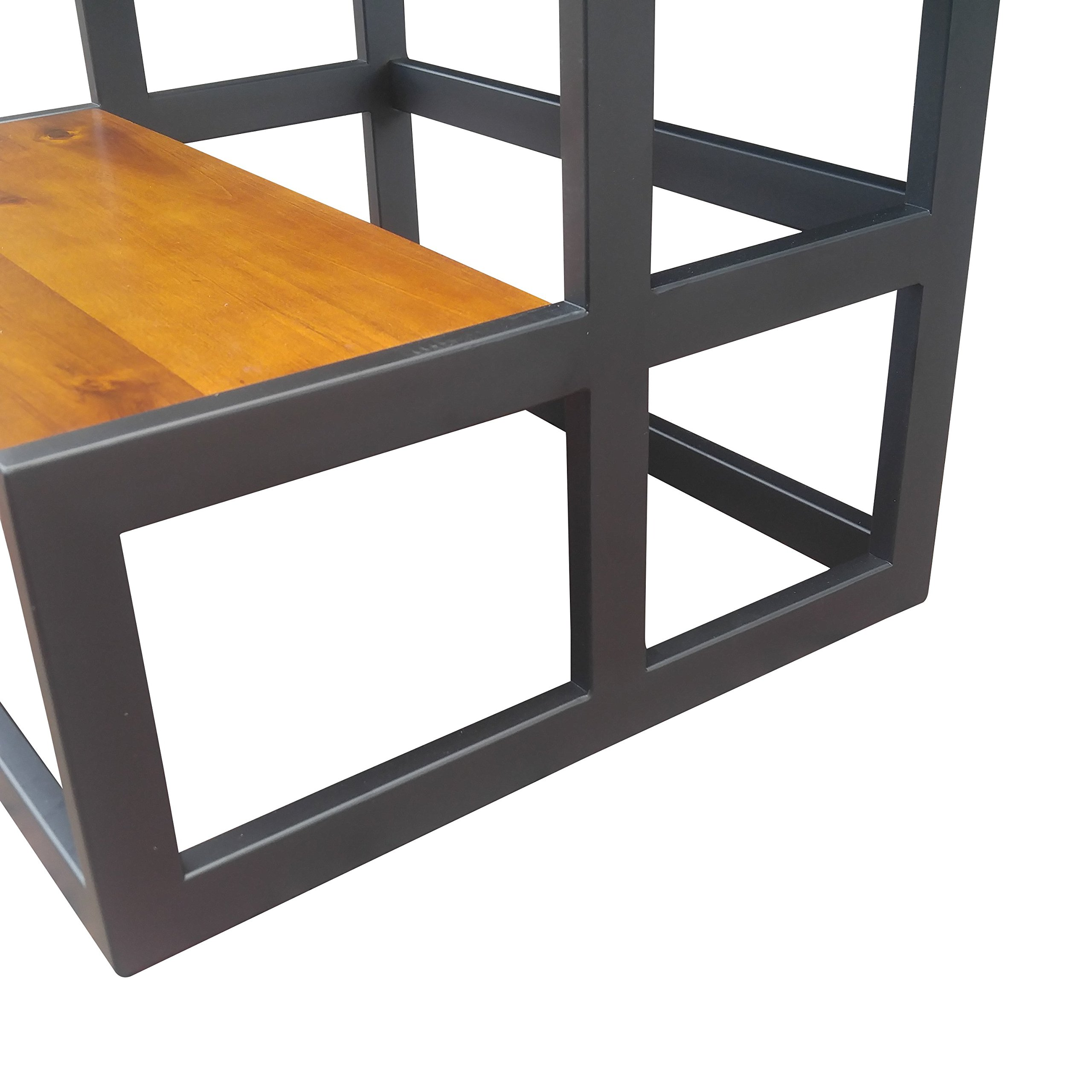 Design 59 inc Acacia Hardwood Step Stool/Bed Steps/Plant Stand, NO Assembly Required by Design 59 inc (Image #3)