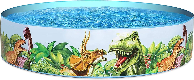 BESTWAY 55022 - Piscina Infantil Fill N' Fun Dinosaurios 183x38 cm