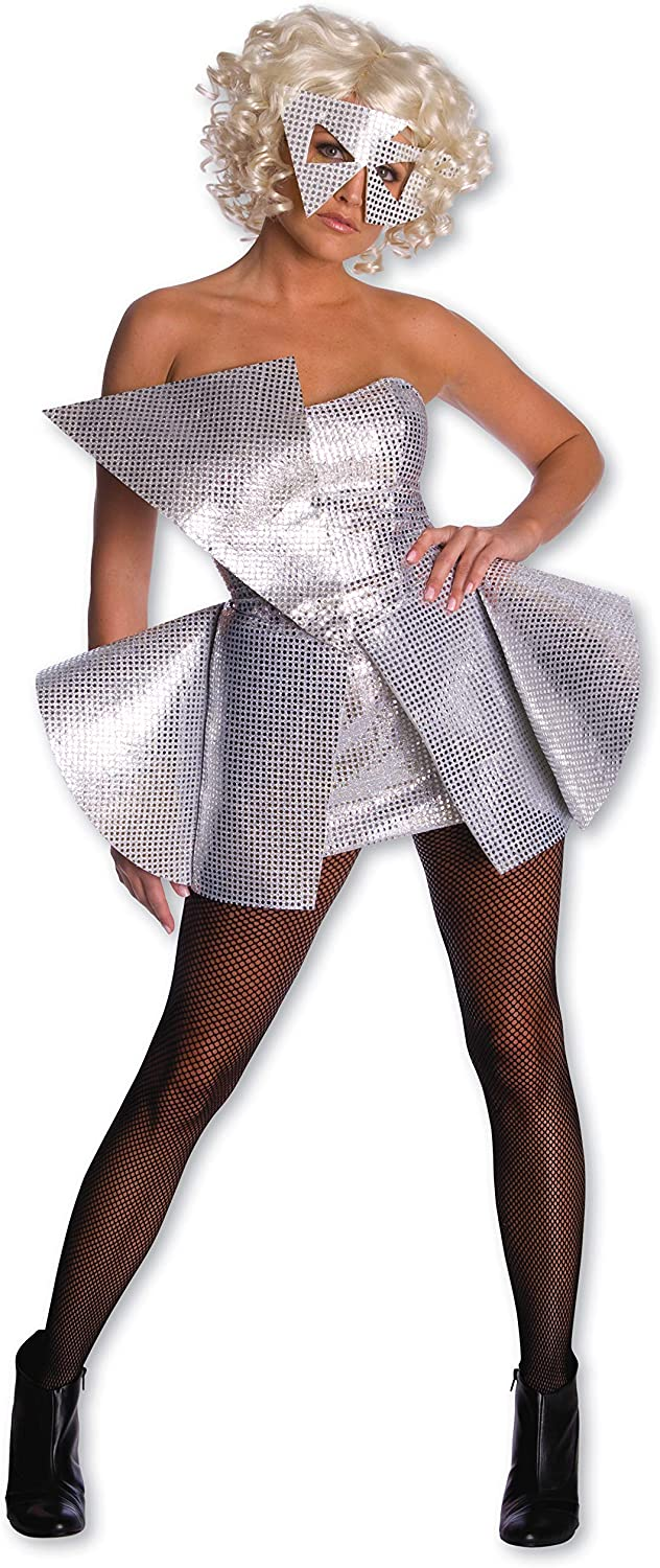 Lady Gaga Sequin Dress Silver Small Costume Amazon Ca Clothing Accessories