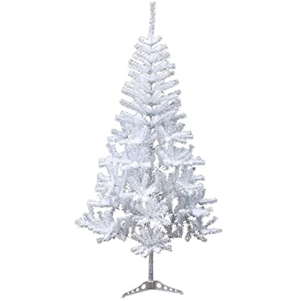 Amazon Com Holiday Essence 4 Foot White Artificial Christmas Tree 300 Tips Pvc Base Unlit Home Kitchen