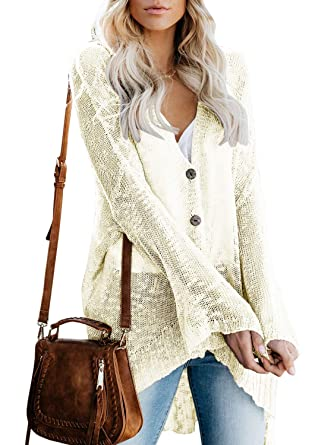 51102874a9c93 Womens Cardigans Casual Lightweight V Neck Long Sleeve Cardigan Sweaters  with Buttons Beige